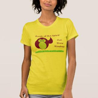 フクロウショーの親切さのアメリカの服装のTシャツ Tシャツ
