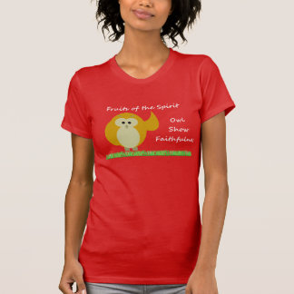 フクロウショーの誠実のアメリカの服装のTシャツ Tシャツ