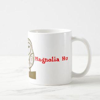 フクロウメッセージのマグ ベーシックホワイトマグカップ