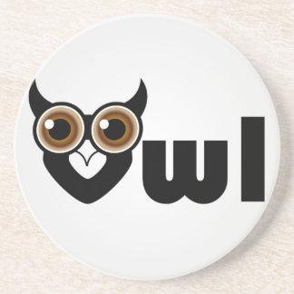フクロウ知恵の記号 コースター
