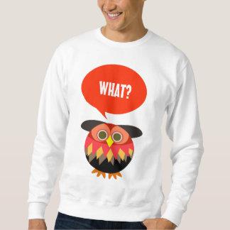 フクロウ: 何かを言って下さい スウェットシャツ