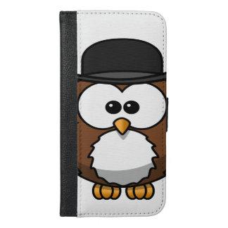 フクロウ iPhone 6/6S PLUS ウォレットケース