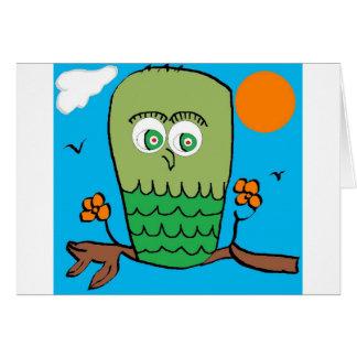 フクロウCHILLIN カード