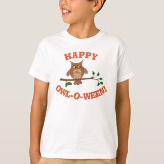 フクロウo ween -ハロウィンのカスタマイズ可能なTシャツ Tシャツ