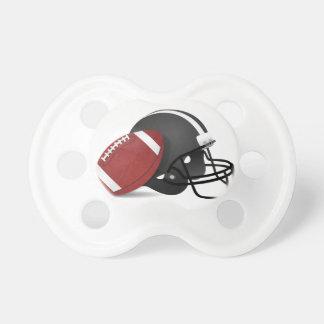 フットボールおよびヘルメット おしゃぶり