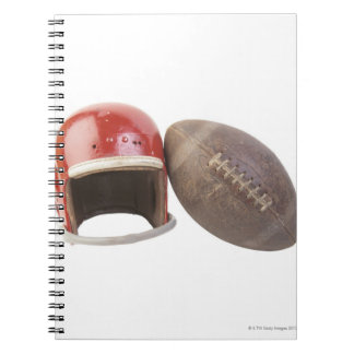 フットボールおよびヘルメット ノートブック