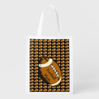 フットボールのお母さんは再使用可能な買い物袋を遊ばします エコバッグ