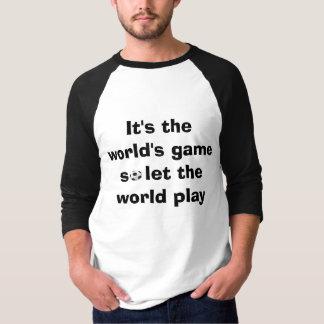 フットボールのキャンペーンの人種差別反対主義 Tシャツ