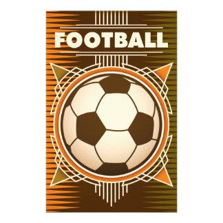 フットボールのサッカーのスポーツの球 便箋