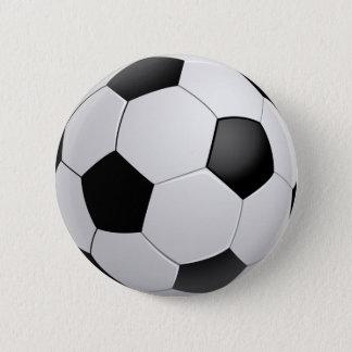 フットボールのサッカーボタン 缶バッジ