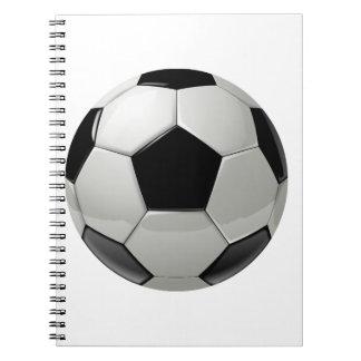 フットボールのサッカーボール ノートブック