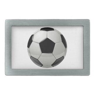 フットボールのサッカーボール 長方形ベルトバックル