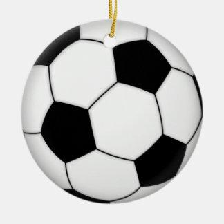 フットボールのサッカー セラミックオーナメント