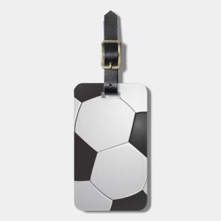 フットボールのサッカー ラゲッジタグ