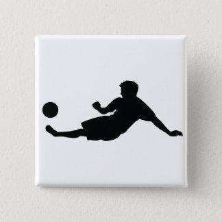 フットボールのサッカー 5.1CM 正方形バッジ