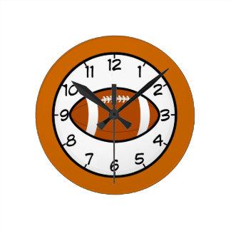 フットボールのスポーツチームコーチの先生の運命 ラウンド壁時計