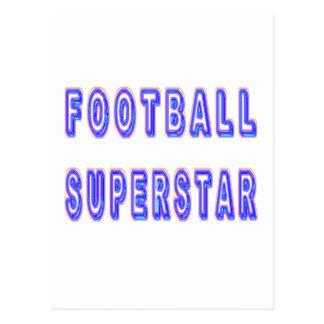 フットボールのスーパースター ポストカード