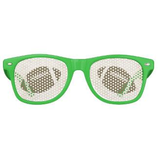 フットボールのテーマのサングラス レトロサングラス
