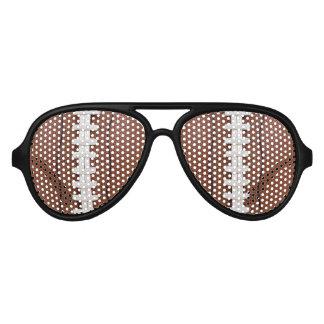 フットボールのデザインの写真のサングラスの陰 アビエーターサングラス