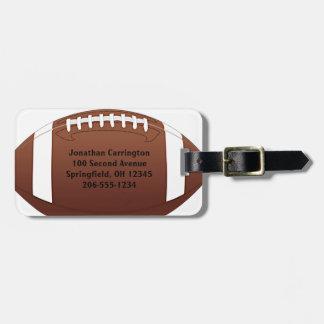 フットボールのデザインの荷物のラベル ラゲッジタグ