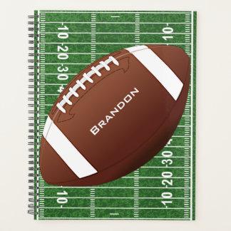フットボールのデザインの週間か月例プランナー プランナー手帳