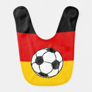フットボールのドイツの旗 ベビービブ
