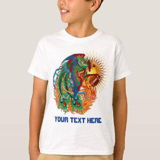 """フットボールのフェニックスの鳥""""再度上昇!"""" できます考えて下さいか。 Tシャツ"""