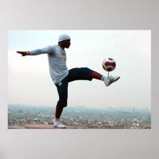 フットボールのフリースタイル ポスター