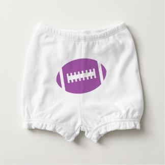 フットボールのベビーの前部|紫色のスポーツのフットボール おむつカバー