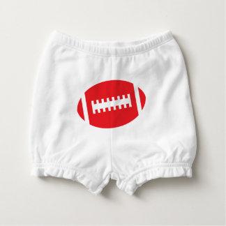 フットボールのベビーの前部|赤のスポーツのフットボールのグラフィック おむつカバー