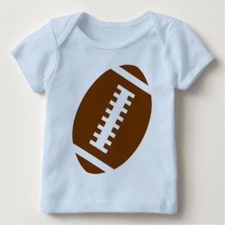 フットボールのベビーの淡いブルーの|前部フットボールのグラフィック ベビーTシャツ