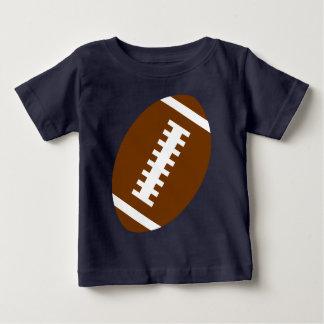 フットボールのベビーの濃紺|の前部フットボールのグラフィック ベビーTシャツ