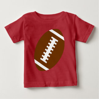 フットボールのベビーの赤|の前部フットボールのグラフィック ベビーTシャツ