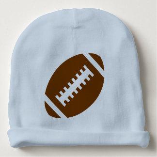 フットボールのベビー淡いブルーの|のスポーツのフットボールのグラフィック ベビービーニー