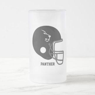 フットボールのマグをカスタム設計して下さい フロストグラスビールジョッキ