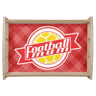 フットボールのミイラのサッカーのお母さんの皿 トレー