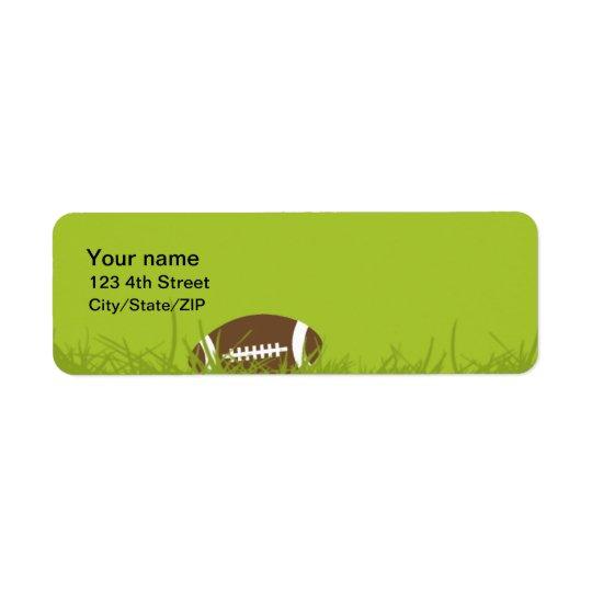 フットボールの住所シール ラベル