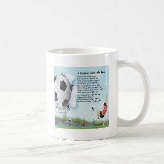 フットボールの兄弟 コーヒーマグカップ