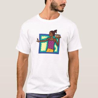 フットボールの女の子 Tシャツ