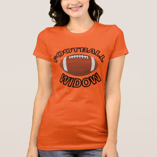 フットボールの寡婦のワイシャツ Tシャツ