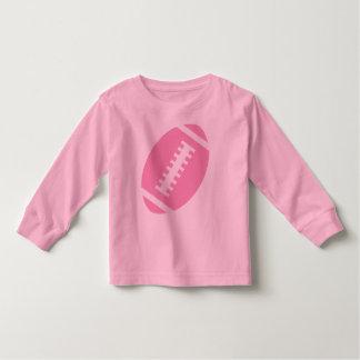 フットボールの幼児のピンク|の前部ピンクのフットボール トドラーTシャツ