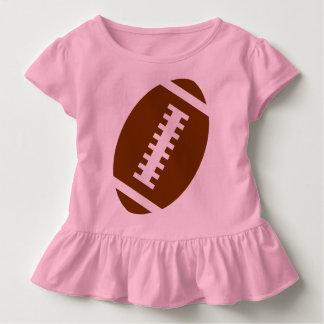 フットボールの幼児のピンク|の前部フットボールのグラフィック トドラーTシャツ