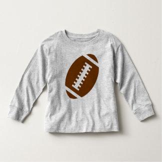 フットボールの幼児の灰色|の前部フットボールのグラフィック トドラーTシャツ