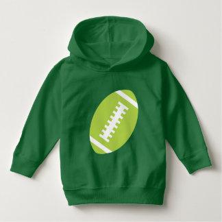 フットボールの幼児の緑|の前部ライムのフットボール パーカ