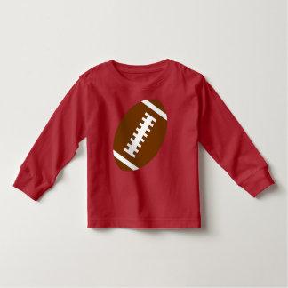 フットボールの幼児の赤|の前部フットボールのグラフィック トドラーTシャツ