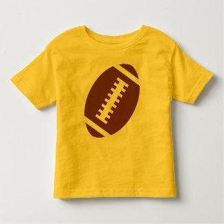 フットボールの幼児の黄色|の前部フットボールのグラフィック トドラーTシャツ
