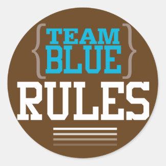 フットボールの性はチーム青のステッカーを明らかにします ラウンドシール