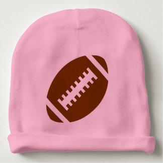 フットボールの明るいピンク|のスポーツのフットボールのグラフィック ベビービーニー