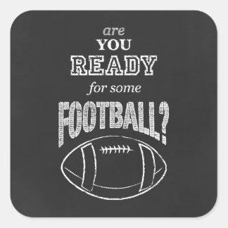 フットボールの準備ができていますか。 スクエアシール