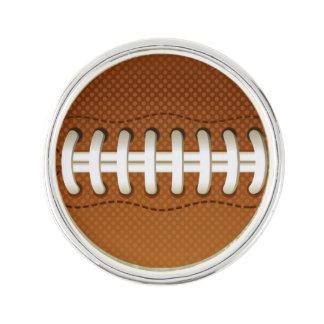 フットボールの球のスポーツ ラペルピン